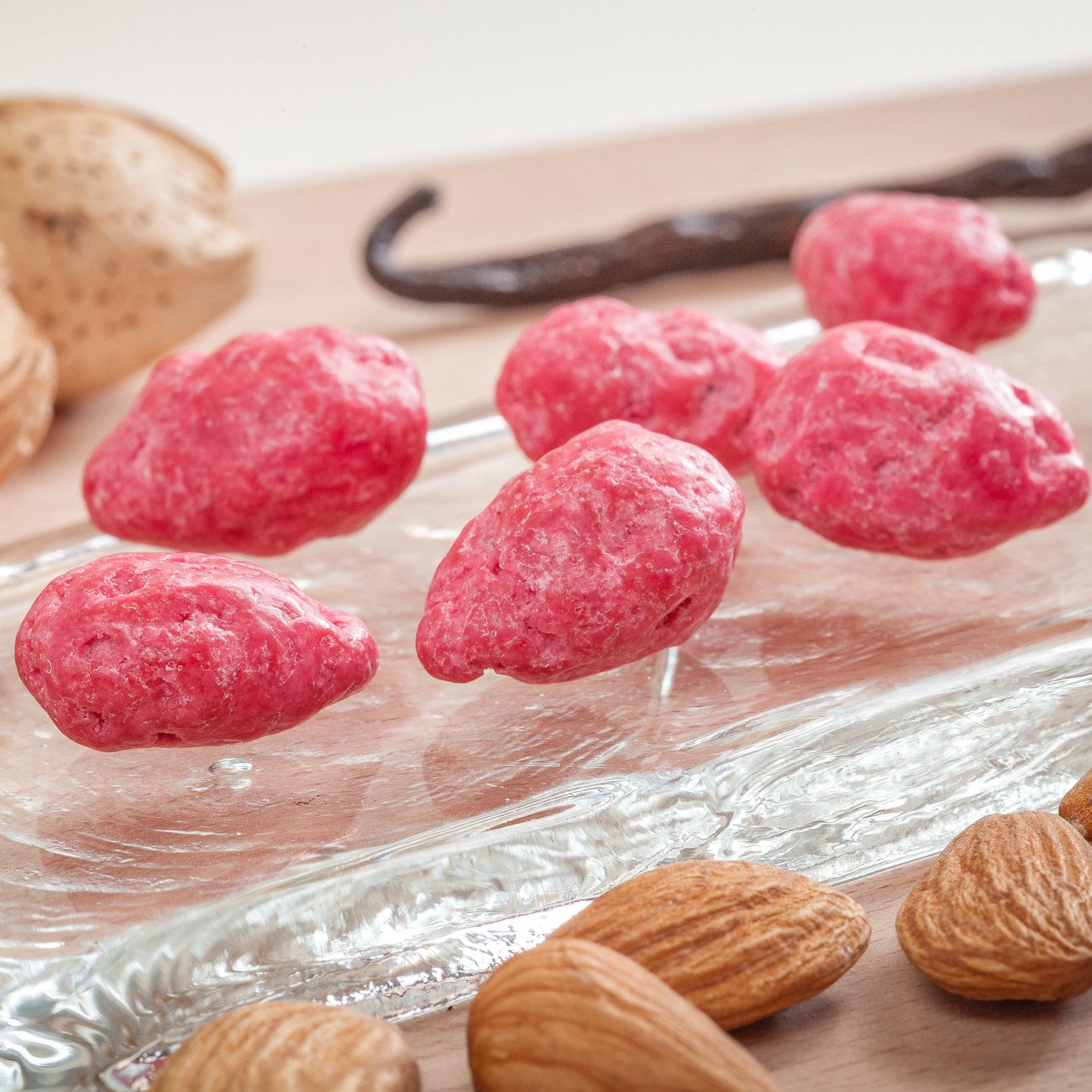 Praline rose croquante 40% amandes le bonbon francais