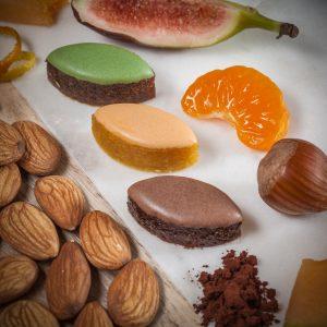 Minis-calissons artisanaux au melon, noisette, figue - Le Bonbon Français