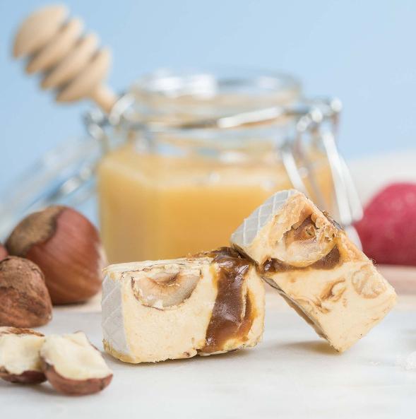 Nougat de provence au Caramel au Beurre salé - Le Bonbon Français