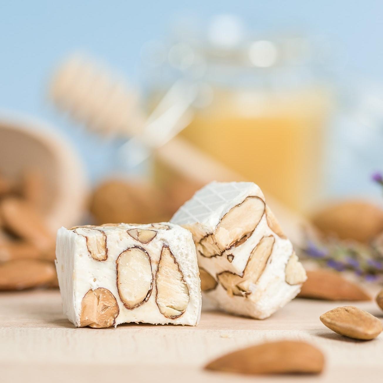 Tendre Nougat blanc Provence 60% amandes et miel Le Bonbon Francais