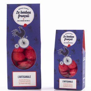 Fraise Artisanale guimauve à la fraise des bois naturel - Le Bonbon Français