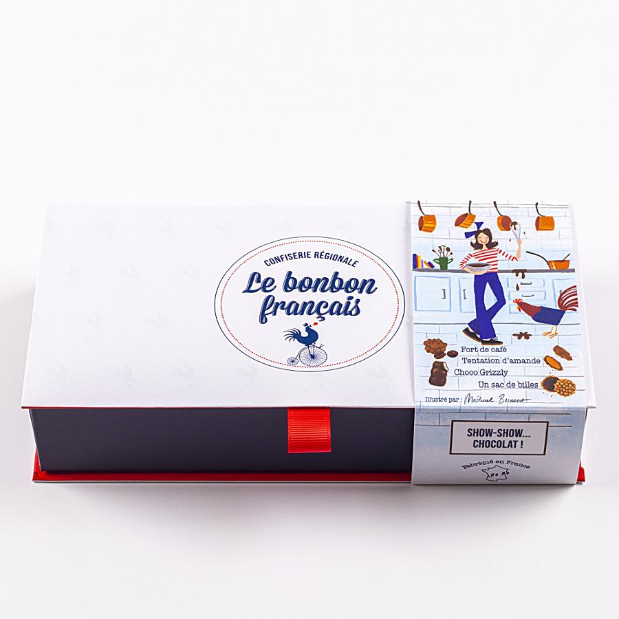 coffret dégustation show-show chocolat assortiment confiseries chocolatées le bonbon francais