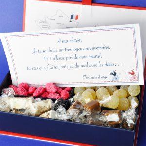carte coffret cadeau personnalisé, Le Bonbon Français