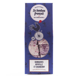 Guimauve de toulouse onctueuse cranberry myrtille - Le Bonbon Français