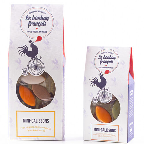 Mini Calisson d'Aix en Provence- traditionnel- chocolat noisette - figue et mandarine Le Bonbon Français
