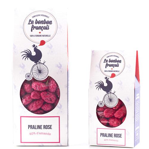 Pack de praline rose croquante 40% d'amandes le bonbon francais