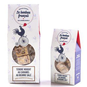 Nougat tendre de Provence au caramel au beurre salé