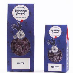 Bonbon à la violette naturel, confiserie française artisanale à la violette, le Bonbon Français