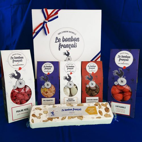 boite personnalisable avec 5 packs le bonbon francais
