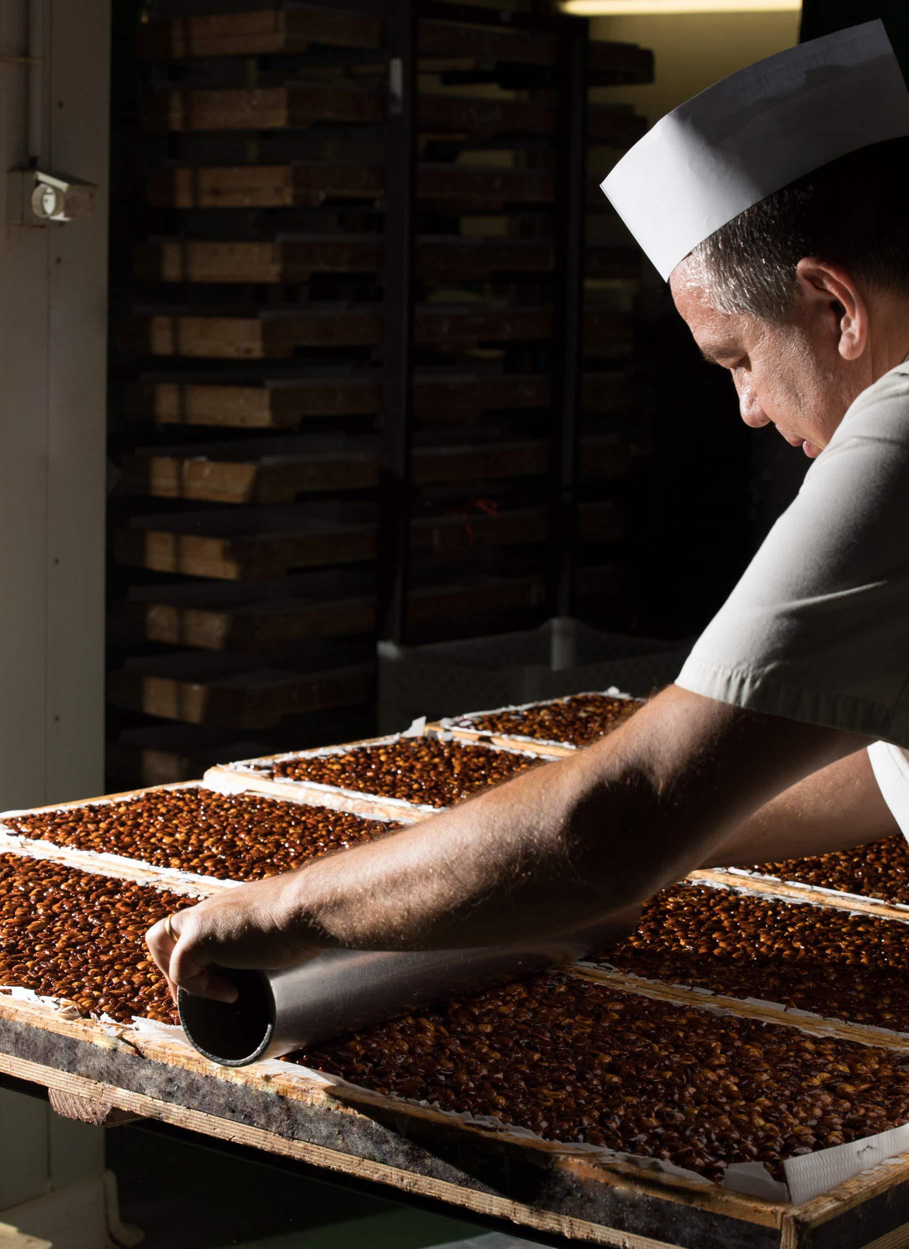 Fabrication Nougat artisanal Le Bonbon Francais