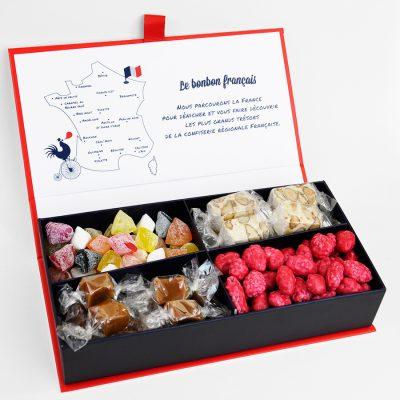 Ecrin Tour des Regions caramel, berlingot, nougat, praline rose