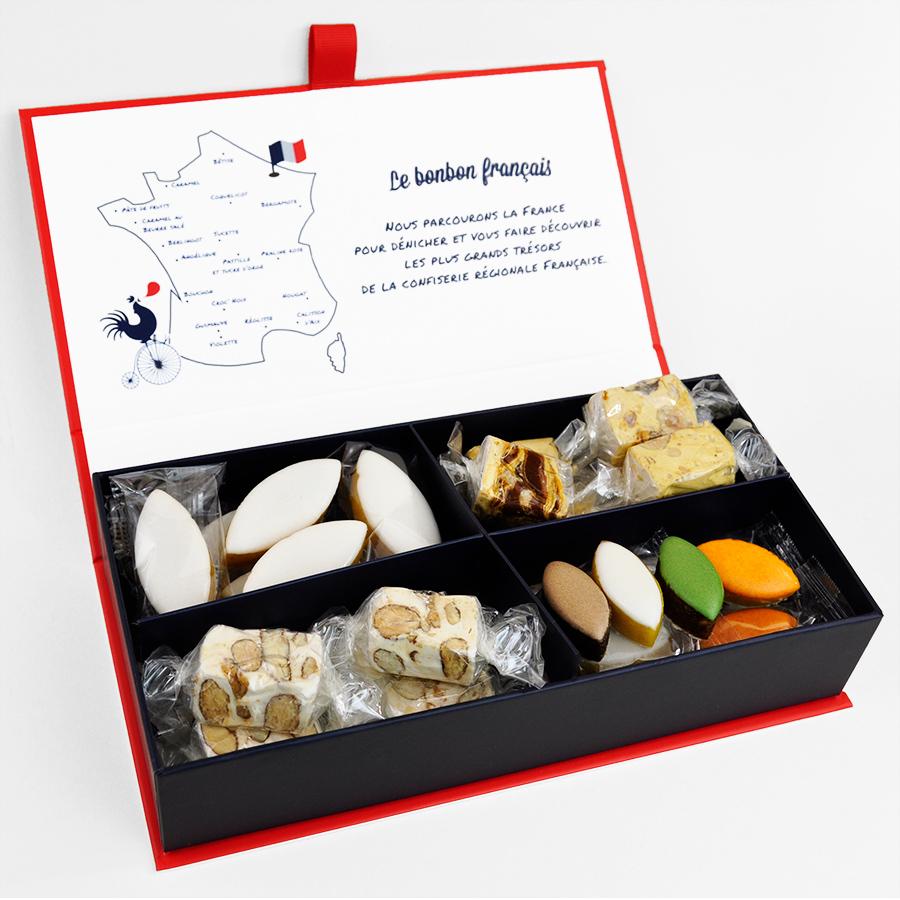 Ecrin Voyage en Provence, calisson, nougat, caramel beurre salé