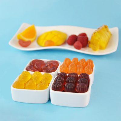 Meli melo fruité ananas - orange - mangue - framboise